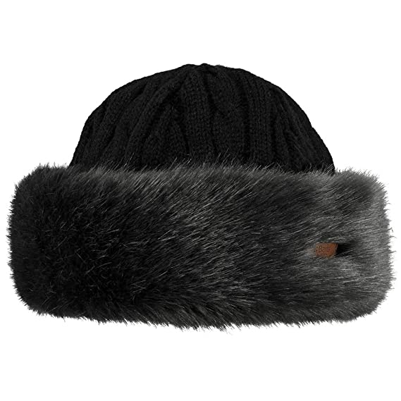 8ded7808f7a Barts Fur Cable Bandhat Beret  Amazon.co.uk  Clothing