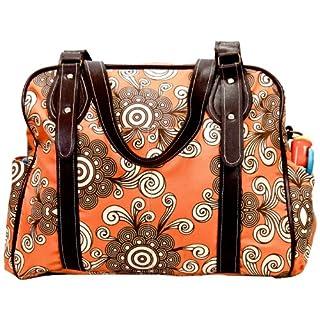 House of Botori Ginika Tote Bag, Twirl Tangerine