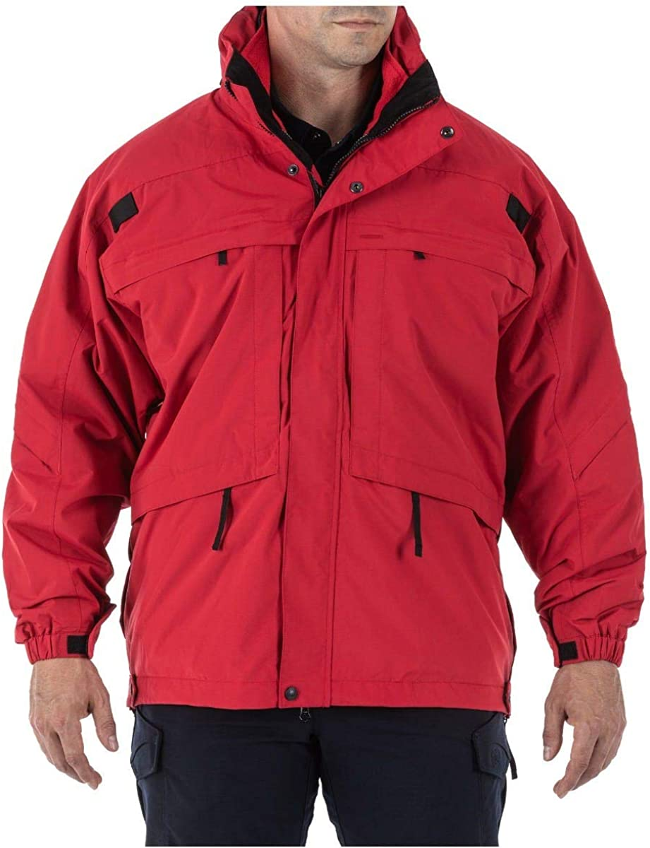 TacTec System Compatible 5.11 Tactical Mens 3-in-1 Waterproof Work Parka Insulated Style 48001
