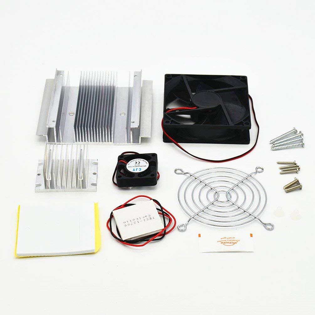 TAOHOU DC 12V 60W TEC1-12706 Ventola di Raffreddamento termoelettrico Peltier Cooling System Kit Fai da Te Nero