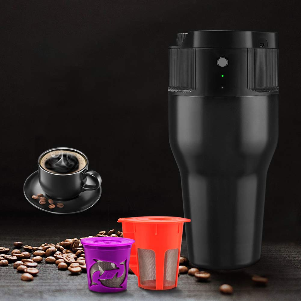 Acquisto NAttnJf Portatile 550ml Mini Outdoor Automatico caffettiera Bottiglia USB Carica Capsula Macchina-Nero Prezzi offerta
