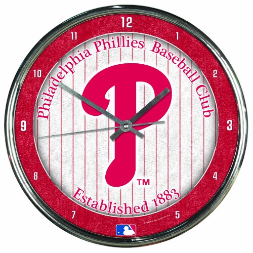 MLB Philadelphia Phillies Chrome Clock, 12