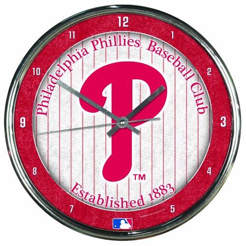- MLB Philadelphia Phillies Chrome Clock, 12