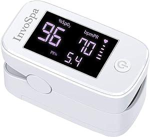 Pulse Oximeter Fingertip - Saturation Oxygen Monitor Fingertip (SpO2) for Adults - Finger Pulse Oximeter for Heart Rate Measurements - Portable Oxygen Meter - Oximetro with Batteries