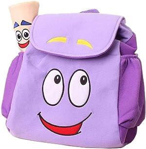 IGBBLOVE Dora Explorer Backpack Rescue Bag with Map,Pre-Kindergarten Toddler bag -Purple