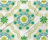KESS InHouse Anneline Sophia ''Let's Dance Green'' Teal Floral Fleece Baby Blanket, 40'' x 30''