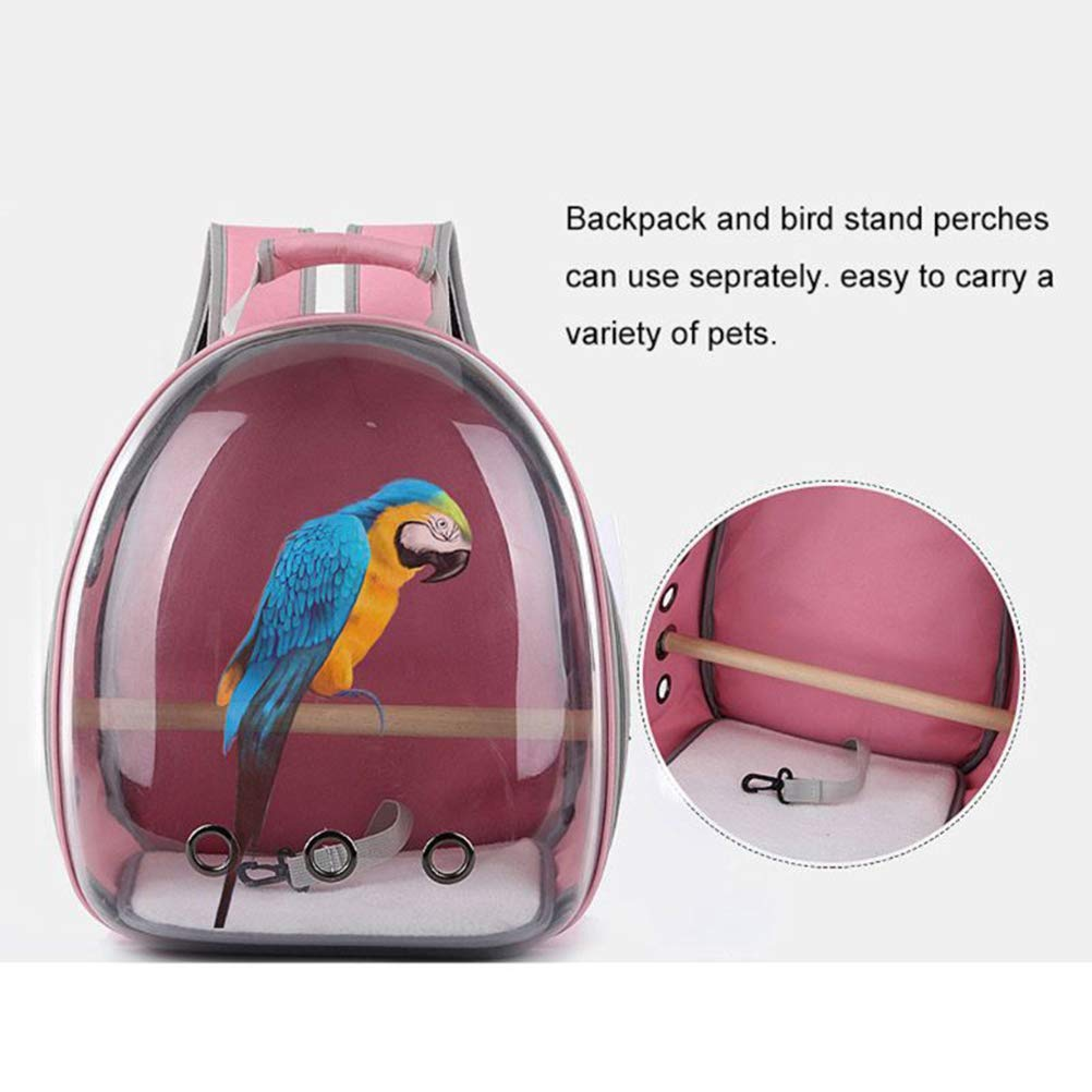 BovoYa Parrot Travel Backpack Portable Breathable Backpack Travel Bag with Lost Hook and Non Slip Pad Suitable for Outdoor Use