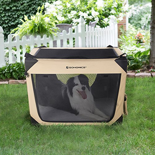 Songmics Soft Sided Dog Crate Pen Kennel Foldable Pet