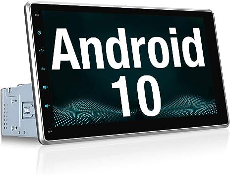 """Vanku Android 10 Autoradio GPS Navegación con 10.1"""" IPS Pantalla Ajustable, 1 DIN Radio de Coche Soporte Bluetooth, Control Volante, WiFi, USB, SD, Mirror-Link, 4G: Amazon.es: Electrónica"""