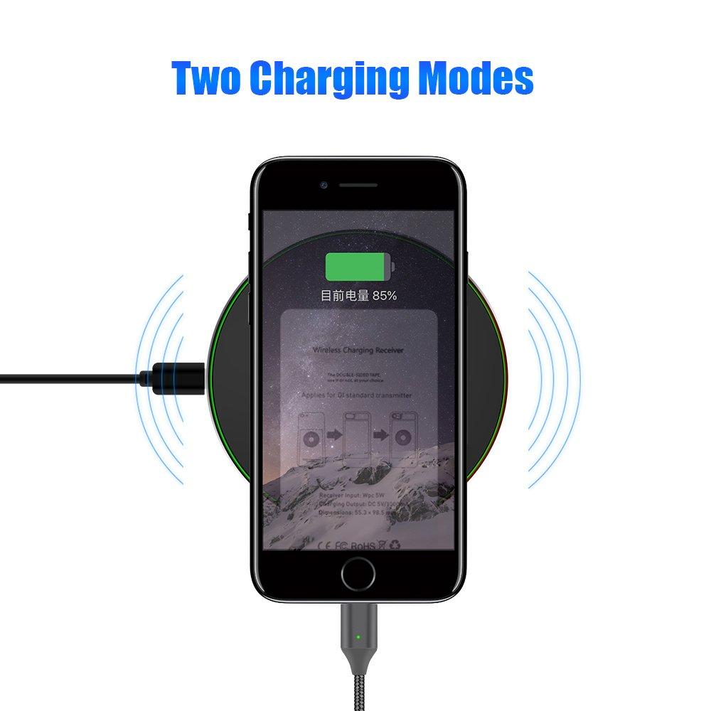 por USB C//Tipo C Sikai Magn/ético Qi Magn/ético Wireless Receiver Equipo Qi Charging Receiver Card de Carga Inal/ámbrica Qi para USB Type-C Connector Smartphones con Gratis Magn/ético Cable