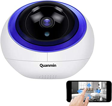 Opinión sobre Quanmin HD Intelligent 1080P HD Security Camera Indoor PTZ IP Camera Vision Remote with Auto Tracking CCTV Surveillance Network Dome IP Camera with Smart Life APP Alexa Google Home Voice Control