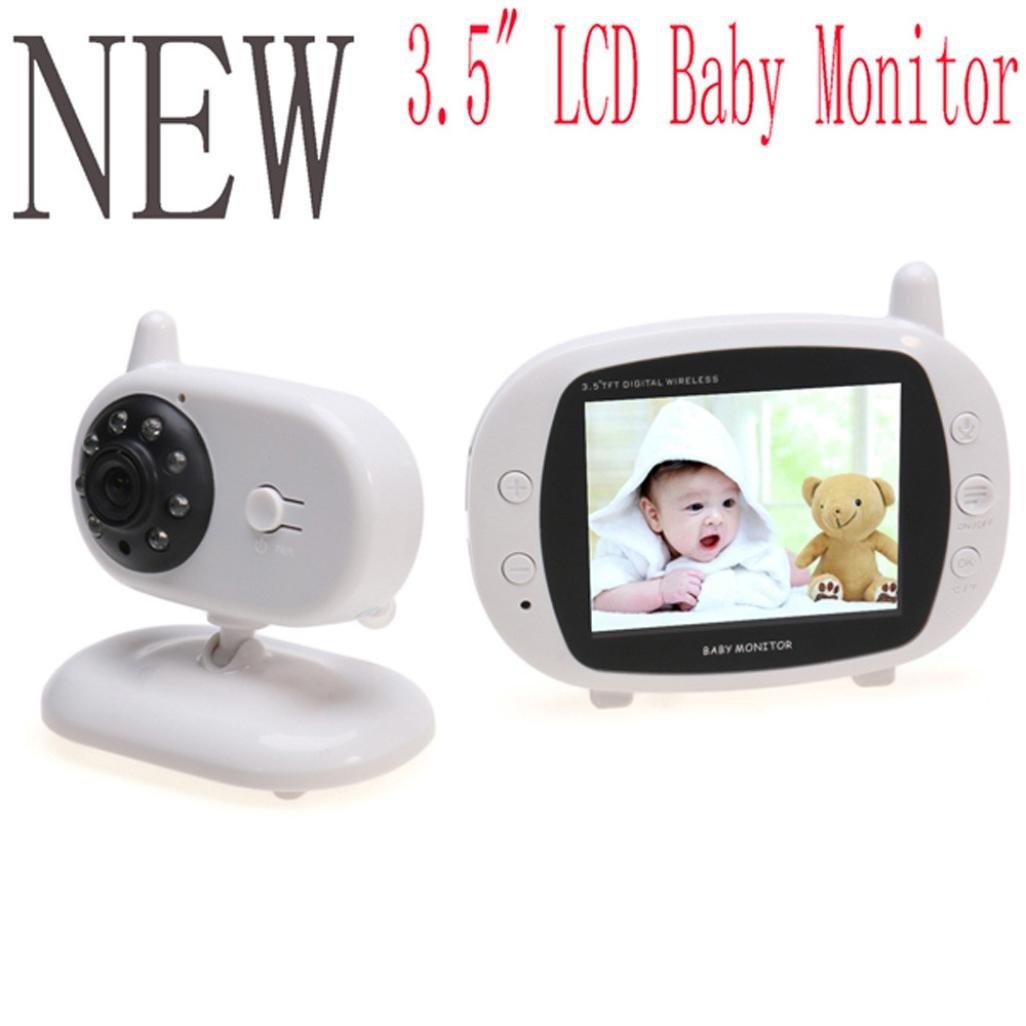 'amh-monitor Baby Kamera Kabellos Babyphone 2.4 GHz Wireless Digital bidirektionale 3.5 LCD-Display, Nachtsicht, Gegensprechanlage Monitor Temperatur-, gebaut Musik