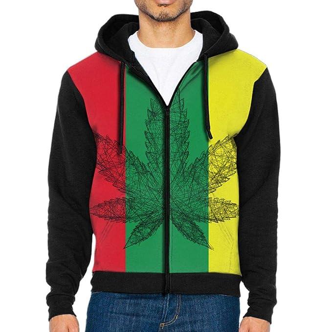 829df152202b Amazon.com  Weed Marijuana Leaf Mens Indoor Full Zip Hoodeds Comfortable  Sweatshirts  Clothing