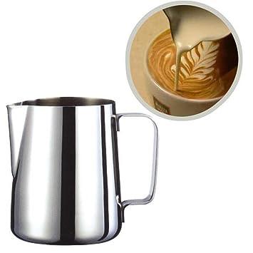 hongjing para hacer espuma de jarra de acero inoxidable para leche jarra 20 oz para máquina de café Espresso para leche y café Latte eléctrica: Amazon.es: ...