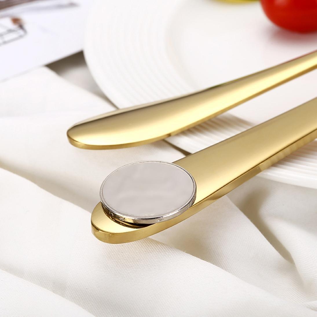 Xshuai Set de 4/couverts en acier inoxydable haut de gamme cuill/ère /à soupe et cuill/ère /à caf/é couteau Fourchette