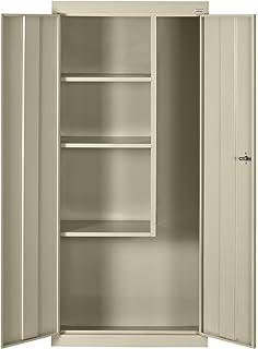 Sandusky Lee VFC1301566 07 Putty Steel Janitorial/Supply Cabinet, 3  Shelves, Cam
