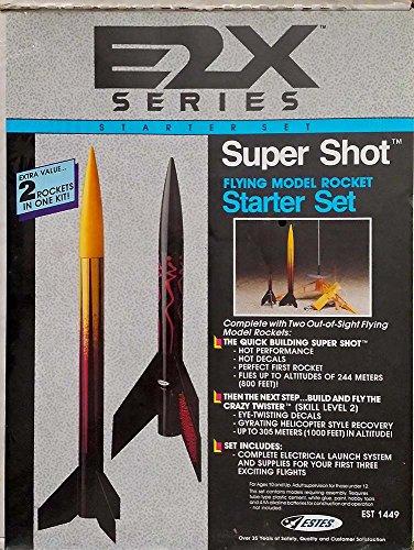 Estes E2X Series Super Shot Flying Model Rocket Starter Set (#84070) with Two Out-of-Sight Flying Model Rockets (Model Rocket Starter Set compare prices)