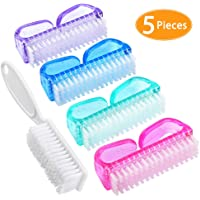 Handle Grip Nail Brush, Hand Fingernail Scrubbing Cleaning Brush Pedicure Brushes 5 Pieces