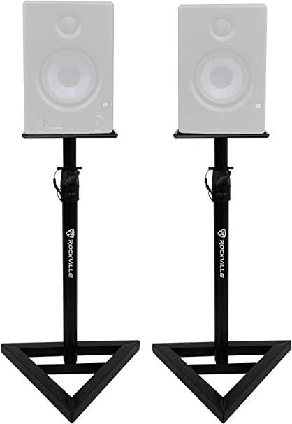 Rockville Adjustable Studio Monitor Speaker Stands For Presonus Eris E4.5 2