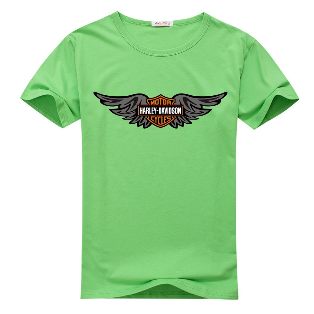 Harley Davidson Logo Wings For Printed Short Sleeve Tee T Shirt 3837