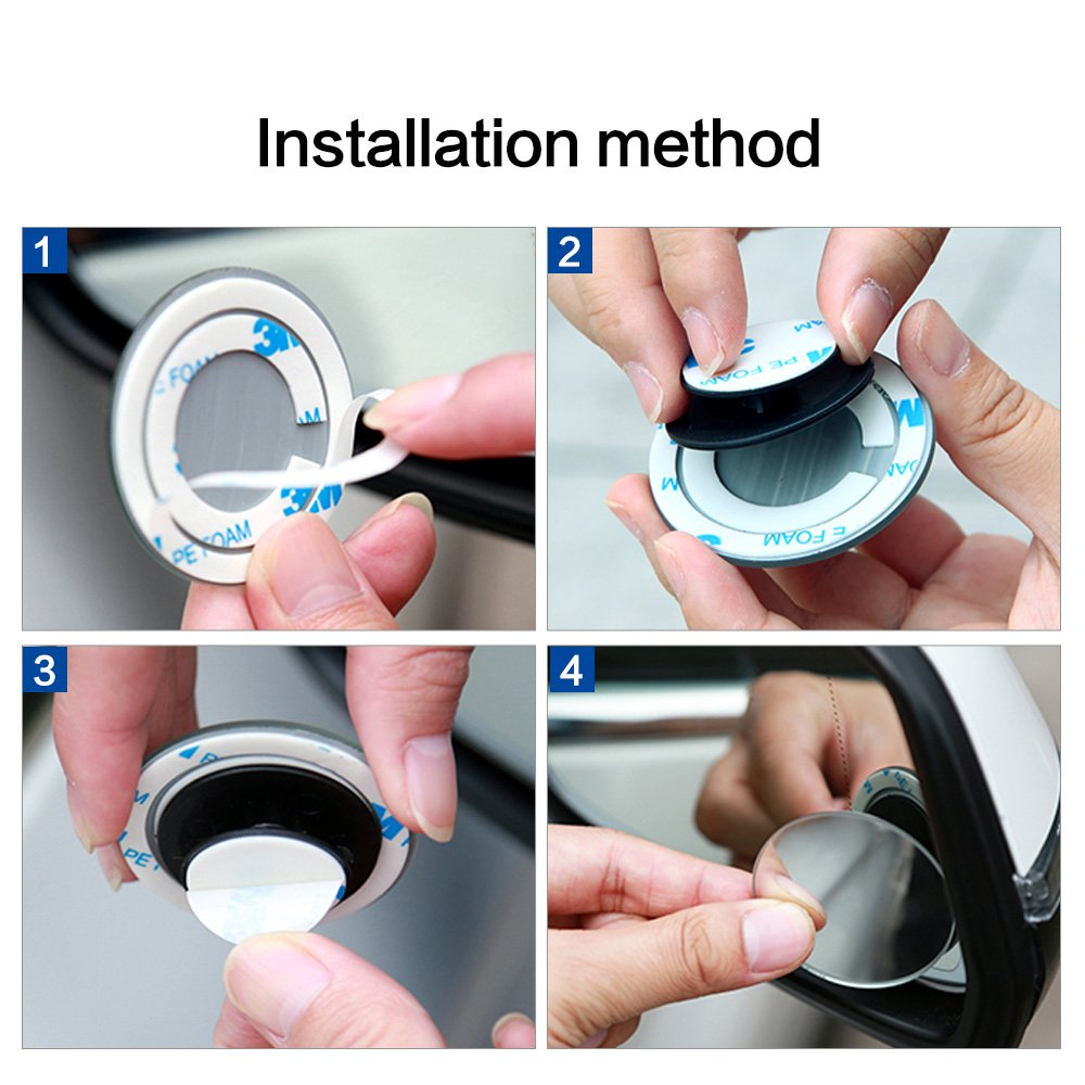 AutoCare Totwinkel-Spiegel Seiten-//R/ückpiegel 2 St/ück. Sicherheitszubeh/ör mit Blendschutz konvex und verstellbar