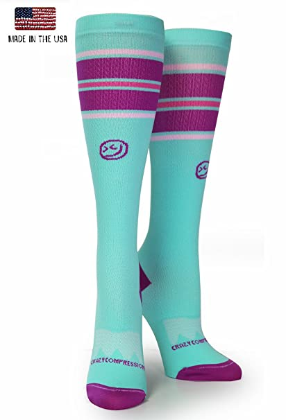 148e35b009 Crazy Compression OTC All Star Stripes Compression Socks (LG/XL (Shoe Size  10