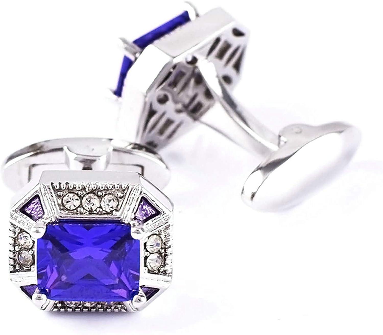 Aooaz Gemelos Cristal Geometrico Cubic Zirconia Púrpura Blanco ...