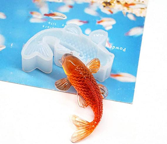 3D Fish Goldfish Pendant Mould Decor Silicone Mold Making Craft Jewelry DIY M6E1