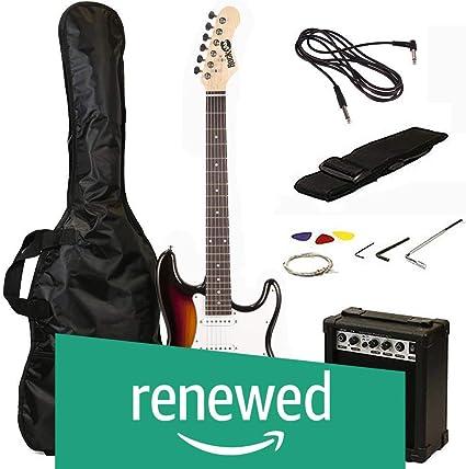 RockJam RJEG02-SK-SB Guitarra eléctrica estilo ST Super Pack con ...