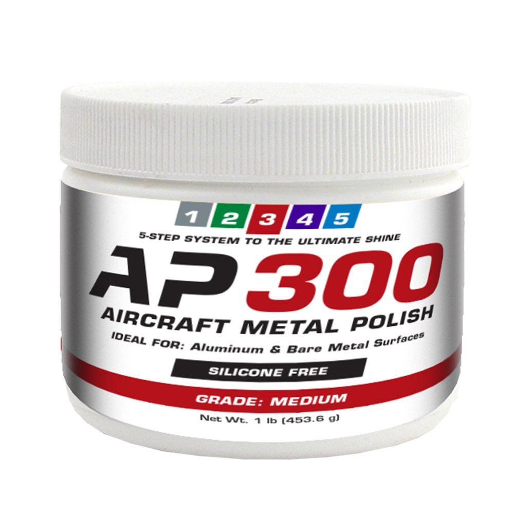AP300 Aircraft Metal Polish (1lb) - Medium - for Airplane Aluminum & Bare Metal Surfaces, Brightwork, Meets Boeing & Airbus Requirements