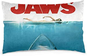 """GSRONY Home Decoration Pillow Cover Jaws Biting Shark Naked Girl Swimming Soft Pillow Case Pillow Sham for Bed/Sofa/Couch/Car 20""""x30"""""""