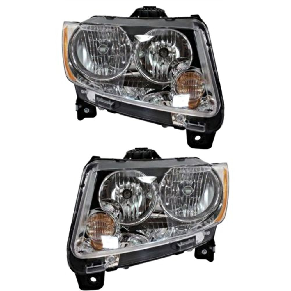 Fits 11-13 Jeep Compass Right Passenger Halogen Headlamp Assembly w//o leveling