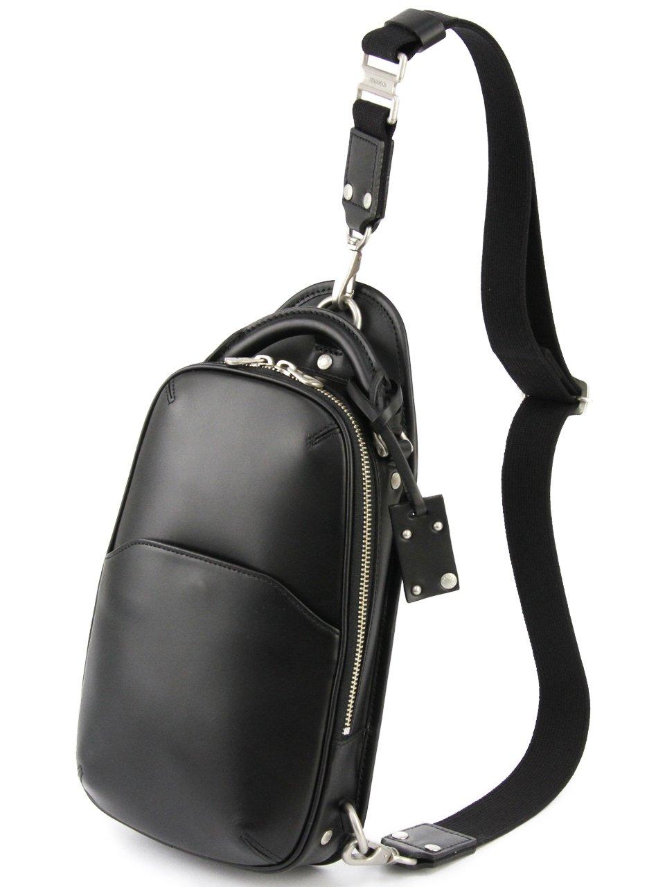 [エルゴポック] ワンショルダーバッグ 本革 06 ワキシングレザー 06-OS メンズ B00D3G0AF8 ブラック ブラック