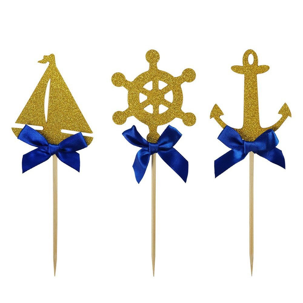 Amazon.com: 20pcs Nautical Theme Anchor Beer Bottle Opener Party ...
