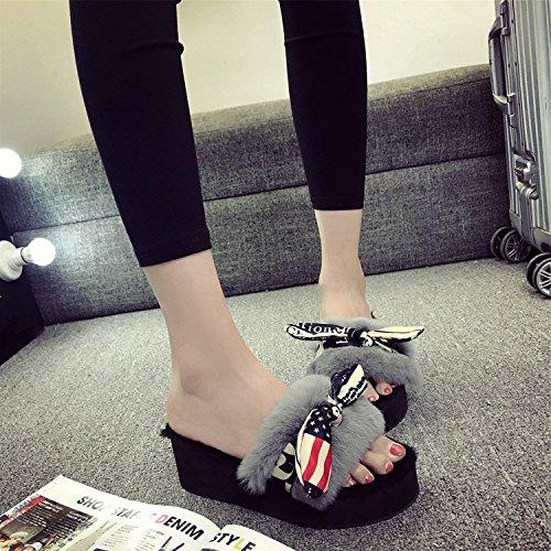 LaxBa Donna Uomo Indoor pattino antiscivolo pantofole 38 grigio