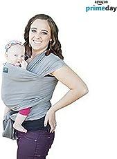Moderno Baby Wrap/Fular Elástico. Multi Posiciones. Unitalla. Algodón Suave Al Tacto Y Spandex. Bebés 0-16 kgs. Instrucciones Y Funda. Garantía Total De Calidad. (Gris Claro) | Envio Gratis