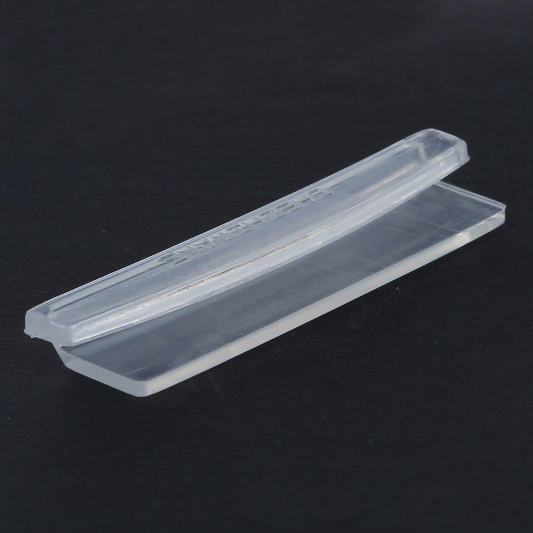 8pcs Car Door Edge Guards Trim Molding Protection Strip Scratch Protector Clear SODIAL R
