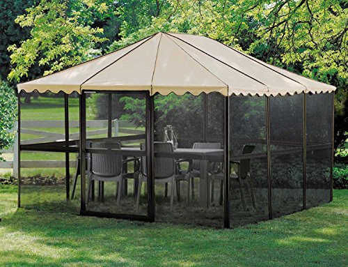 Casita 12-Panel Square Screenhouse Model 21165 Brown with Almond Roof Canopy by Casita (Image #4)