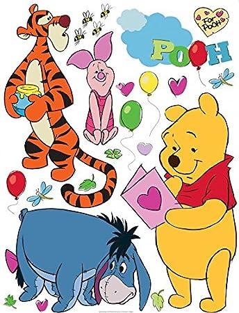1art1 106587 Winnie Puuh Der Bär - Winnie Pooh with Friends Wand ...