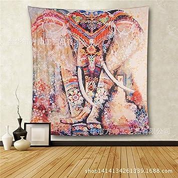 Adornos behangen elefante böhmischer estilo bufanda pared colgador Toalla Toallas de mano de playa sentado techo Picnic Mesa Servilletas pared, ...