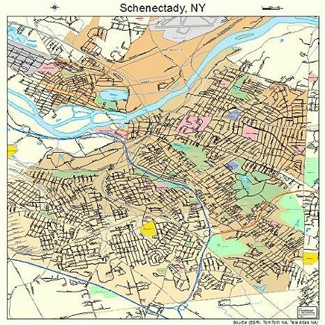 Schenectady New York Map.Amazon Com Large Street Road Map Of Schenectady New York Ny