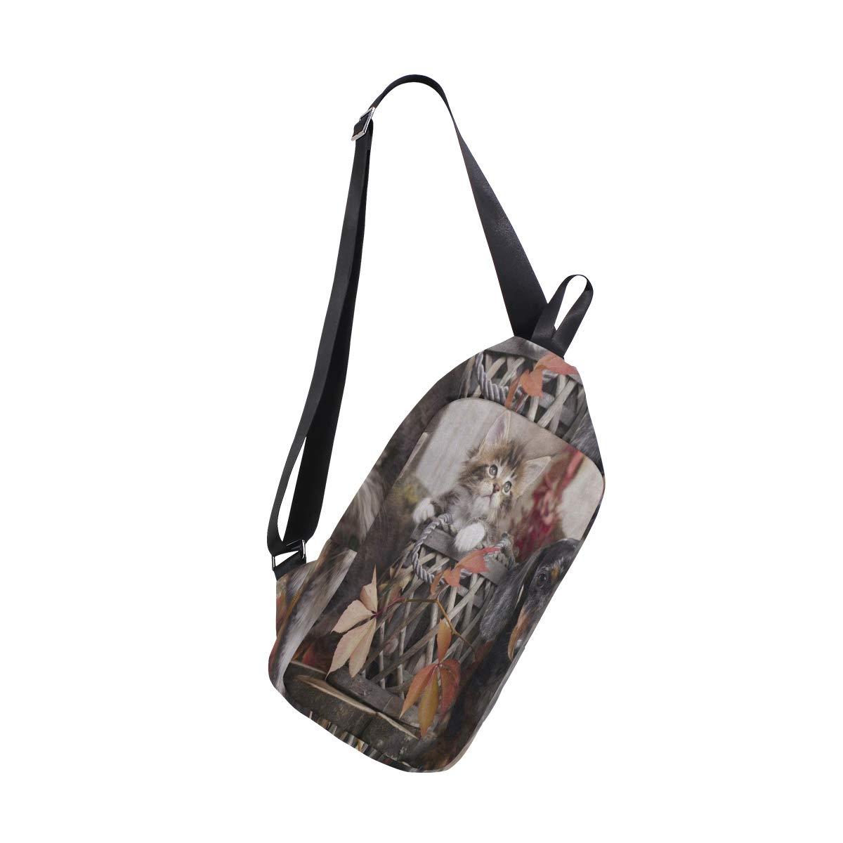 Lovexue Sling Bag African Dancer Figures Mens Chest Shoulder Backpacks Crossbody Body Daypack