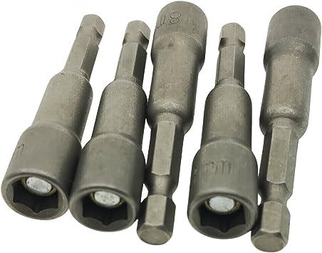 "1//4/"" Shank 8mm 5//16/"" Socket Magnetic Screw Hex Nut Driver Bit Adapter 10pcs"