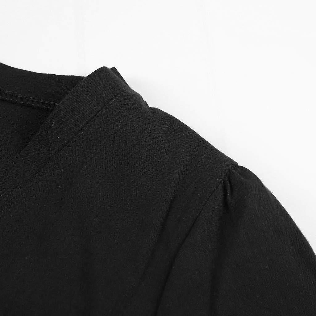 Slyar Vestido De Lino De Verano De Las Se/ñOras Vestidos Verano Mujer 2019 Casual Vestidos Verano Mujer Playa Ofertas Vestido Suelto Y Sencillo