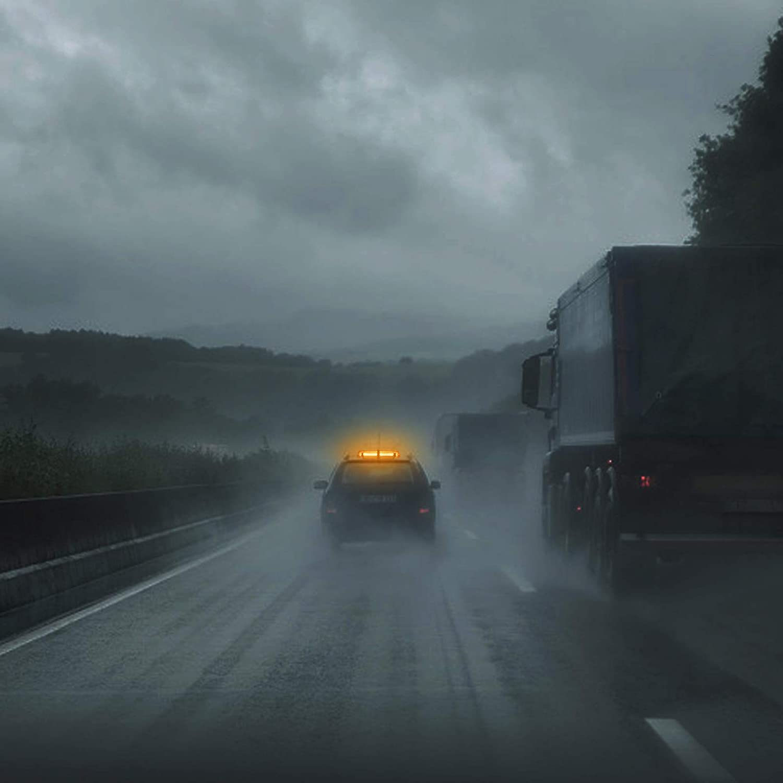 PROZOR Auto Rundumleuchte 54 LED 12V wasserdichte Notbeleuchtung mit Doppelschalter 5M Zigarettenanz/ünde Kabel 7 Blitzmodus Magnetischer Blitz 54W Bernstein Notlicht f/ür Auto LKW SUV