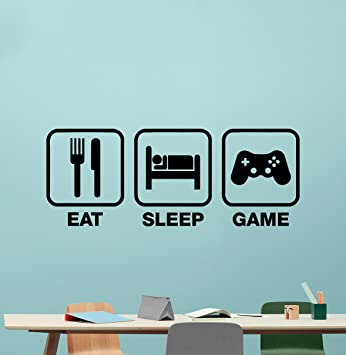 Amazon.Com: Eat Sleep Game Wall Decal Gaming Vinyl Sticker