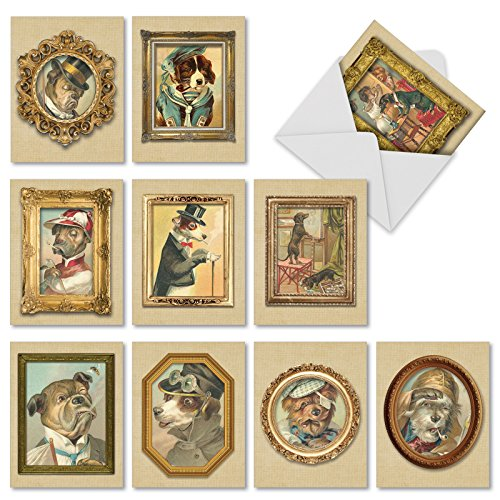 Cards with Envelopes 4 x 5.12 inch - Assorted 'Pup Portraits' Pet Stationery Set - All-Occasion Blank Puppy Greeting Cards for Parties, Weddings, Birthdays, Thank Yous M1738BN ()
