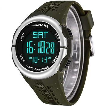 JBP Max Reloj Deportivo Multifuncional para Hombre Reloj Digital Multifuncional Impermeable Reloj Deportivo para Hombre Reloj Despertador Reloj ...
