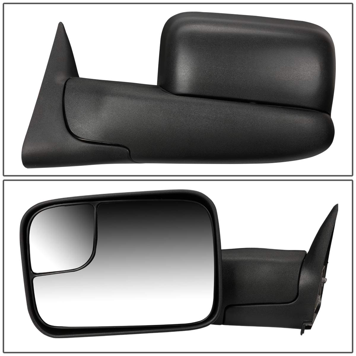 Towing Side Mirror Assembly DNA motoring TWM-018-T111-BK-R Right Side Only