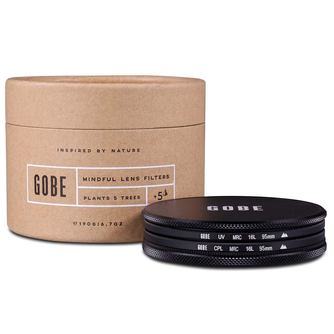 Gobe Filter Kit 95mm MRC 16-Layer: UV + CPL Polarizer by Gobe